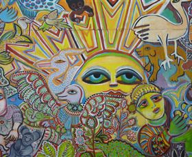 The Painting of Life by Mirka Mora - Redcliffe Tourism