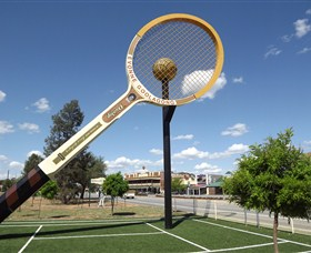 Barellans Big Tennis Racquet - Redcliffe Tourism