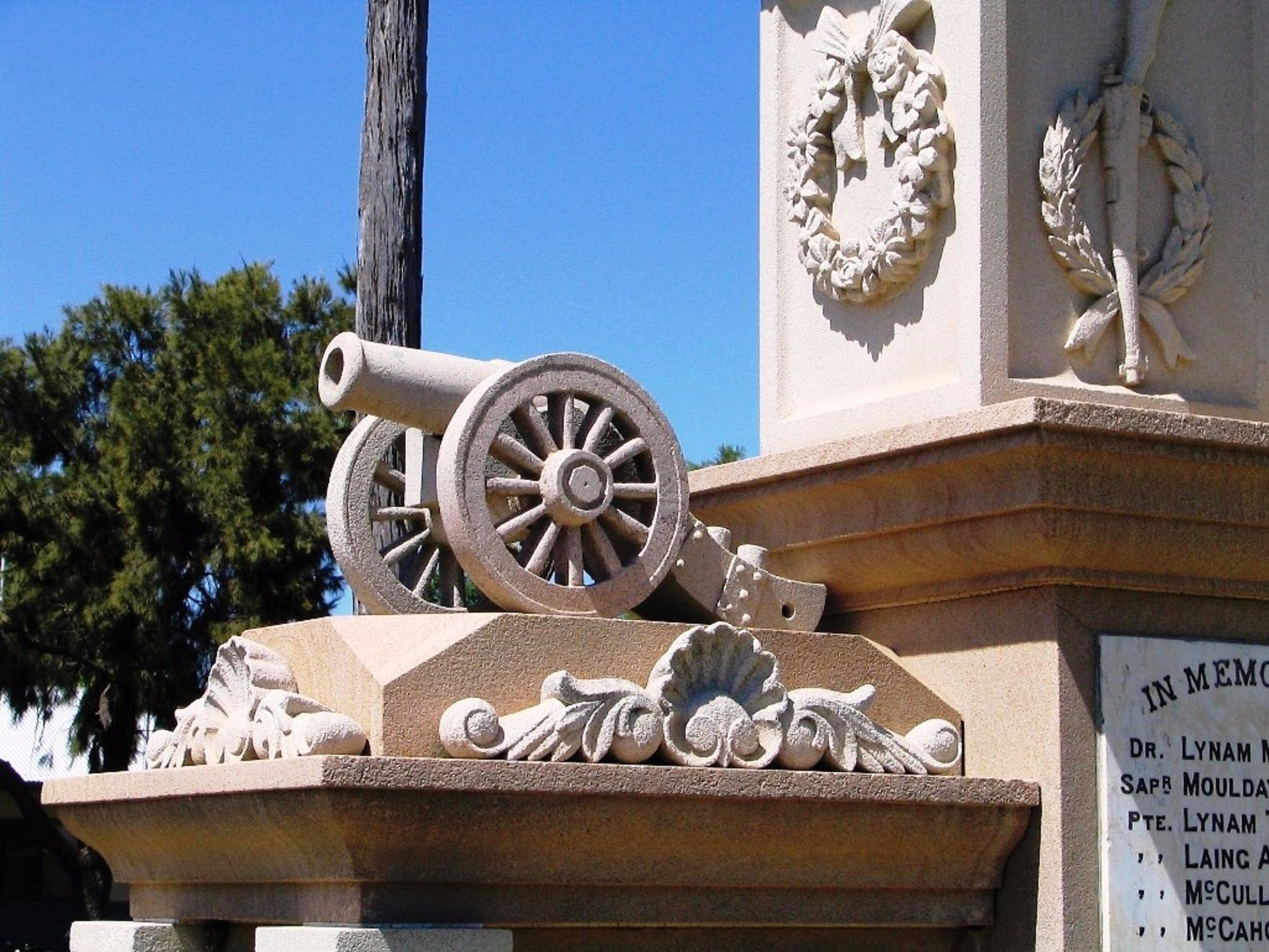 Boer War Memorial and Park Allora - Redcliffe Tourism