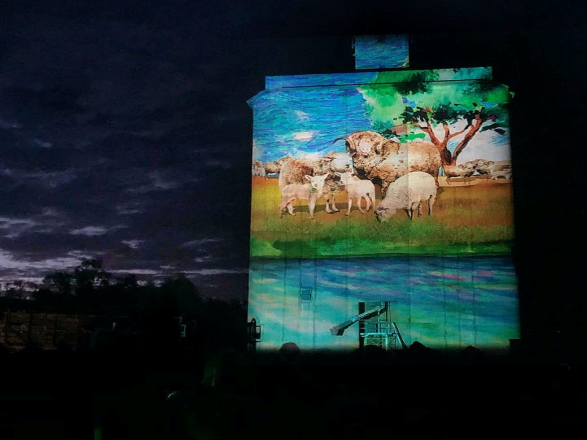 Quorn Silo Light Show - Redcliffe Tourism