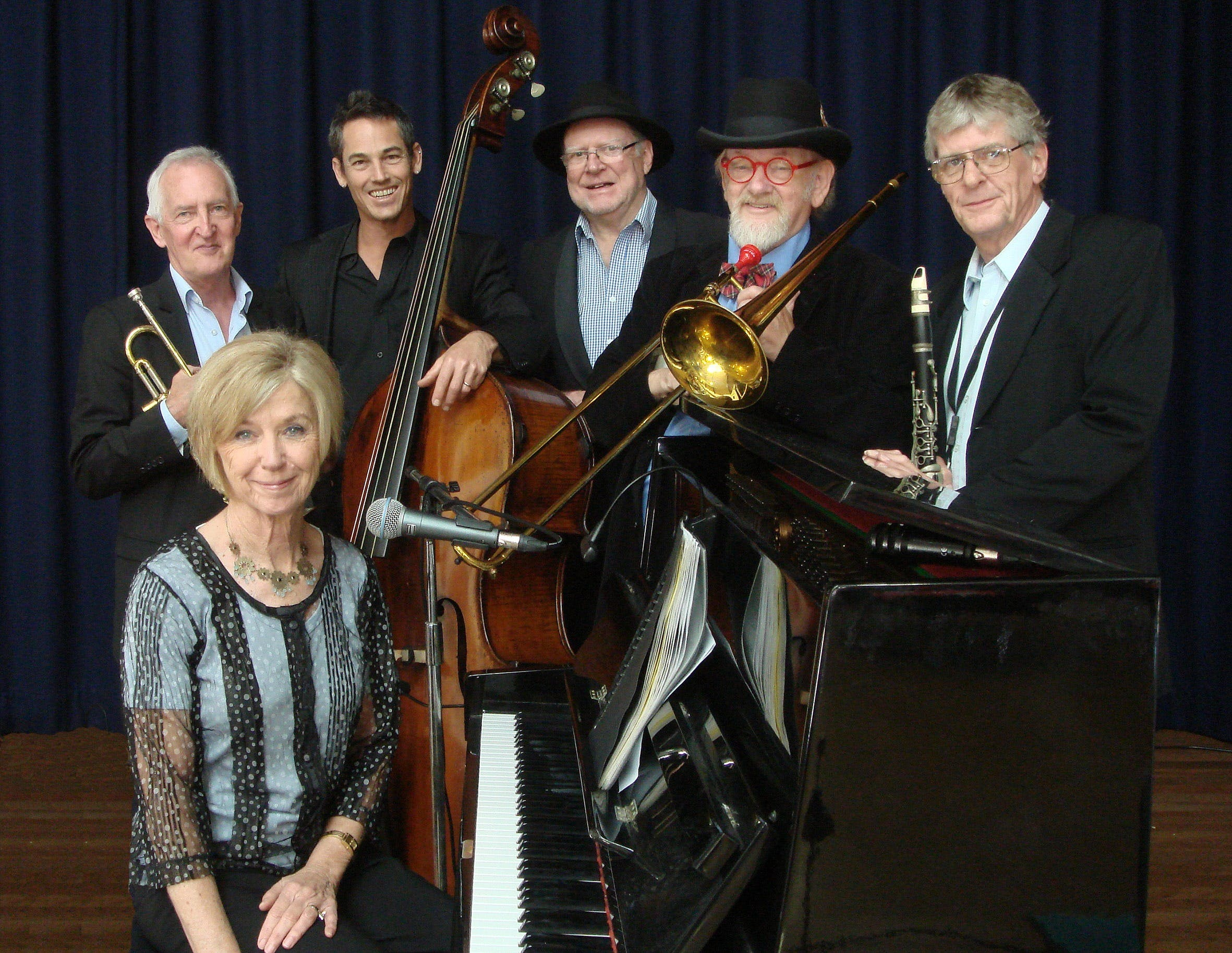 The Caxton Street Jazz Band in the Swigmore Hall at Robert Channon Wines - Redcliffe Tourism